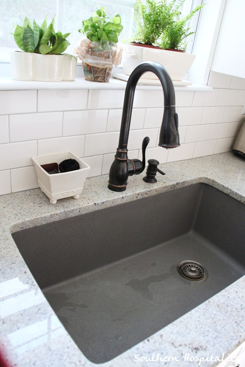 Gray Granite Sink : Metallic Gray Blanco sink - Southern Hospitality