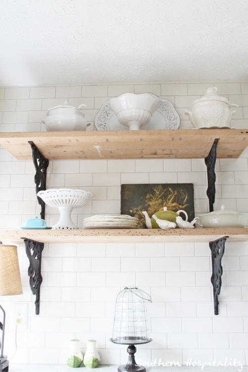 Ikea Kitchen Renovation rustic shelves