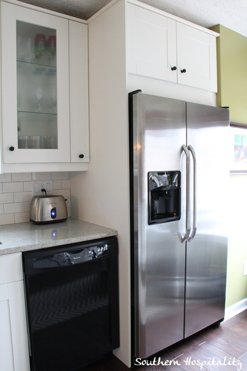 wonderful Do Ikea Kitchen Doors Fit Other Cabinets #9: Fridge side with built in cabinet ...
