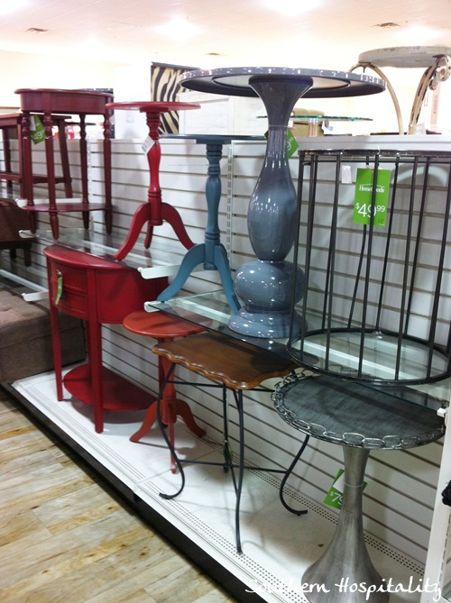 cute tables Homegoods Southern Hospitality