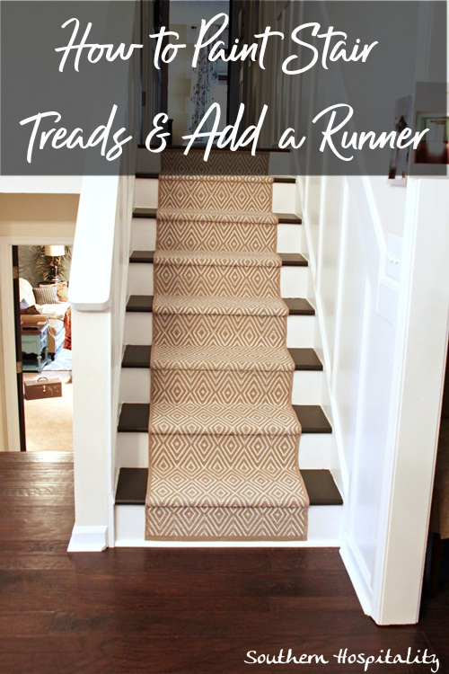 How to Paint Stairs and Add Runner