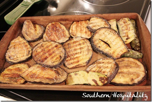 mixed grilled eggplant