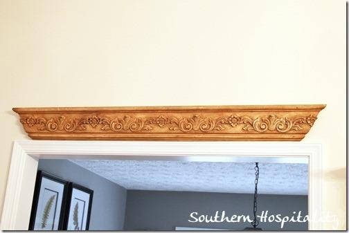 molding above door