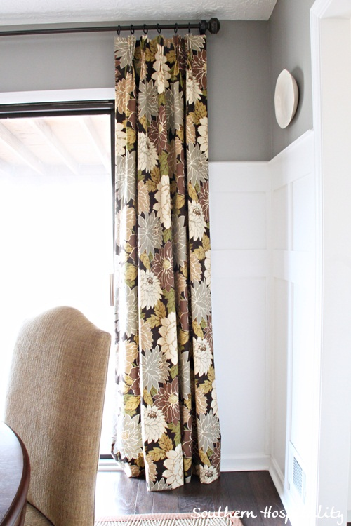 Floral Drapes In The Dining Room
