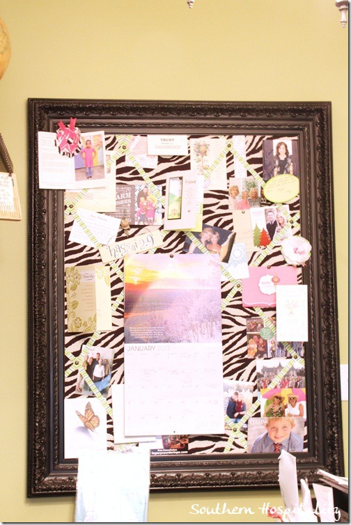 zebra bulletin board