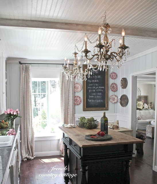 Check Out The Beadboard Ceiling Always A Fave Way To Bring Charm Room Those Blingy Chandeliers Help In That Area Too Dining