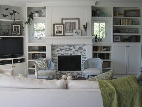 Lily pad cottage - Living room built ins ...