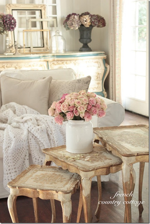 Look Right At Home At Her House I Love Those Italian Nesting Tables