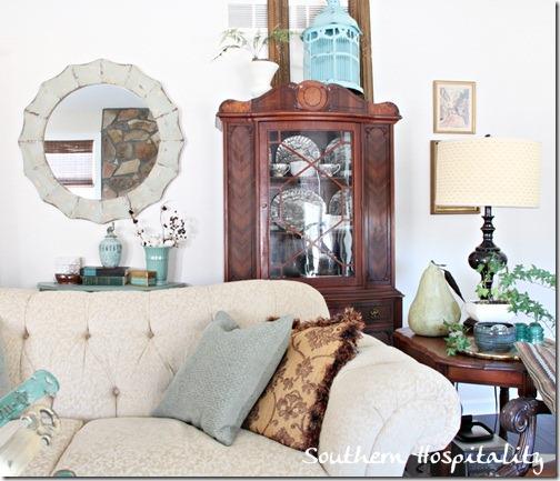 sofa china cabinet