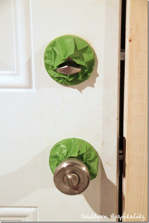 tape knobs with Frogtape