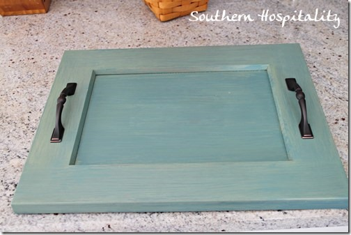 finished tray milk paint