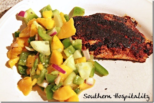 Blackened fish for Mango salsa recipe for fish