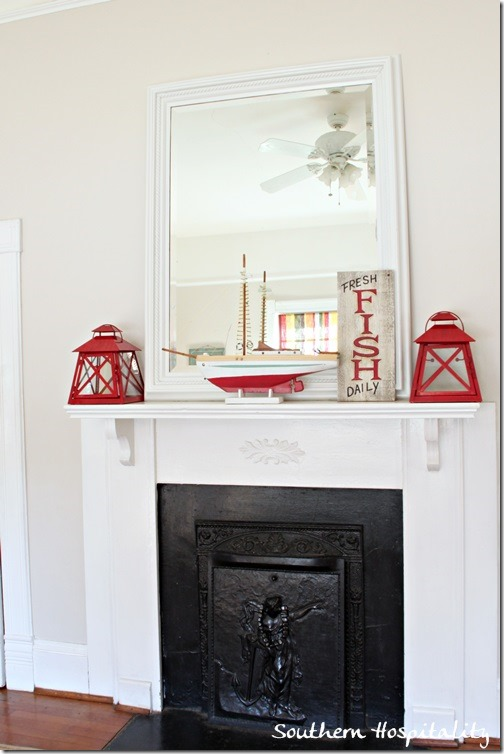 playroom fireplace