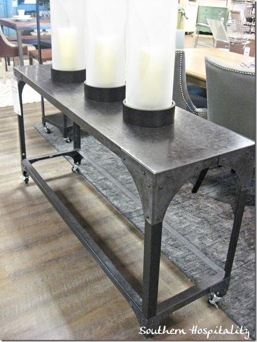 rustic metal side table