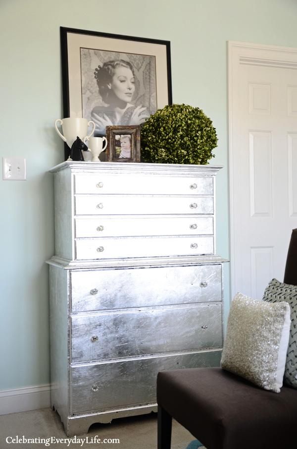 silver Leaf Dresser makeover
