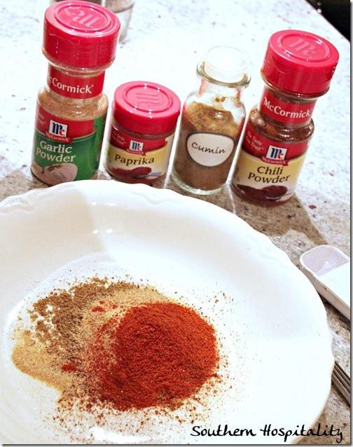 ... seasoning rub on the fish: Chili Powder, Garlic Powder, Paprika, and