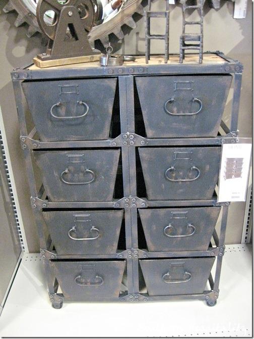 storage rustic metal
