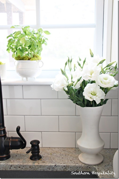 fresh white flowers
