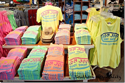Spring break in panama city southern hospitality for Surf shop tee shirts
