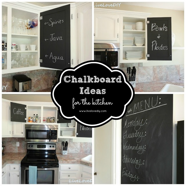 1000 images about paint it on pinterest chalkboard for Chalkboard paint ideas for kitchen
