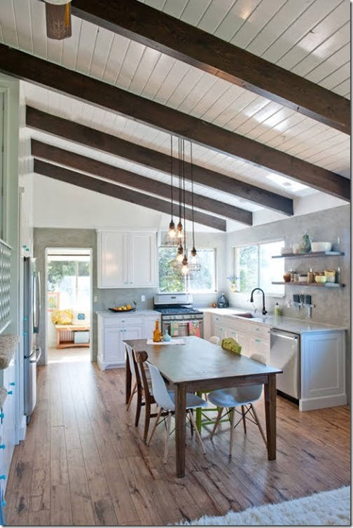 Architectural details to add to your home faux beams for Adding wood beams to ceiling