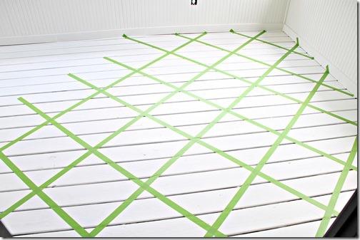 Frogtape on floor