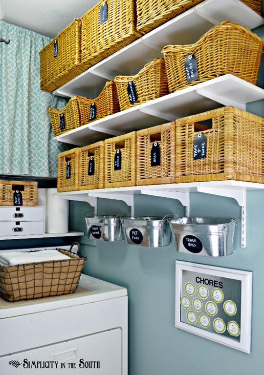 Feature friday simplicity in the south southern hospitality for Diy laundry room organization ideas