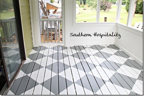 How To Paint Diamonds On The Floor Southern Hospitality