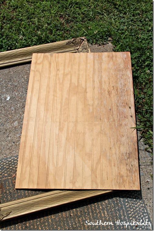 beadboard and frame