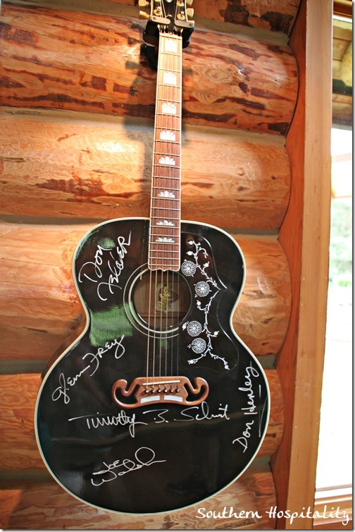 guitar signed by Eagles