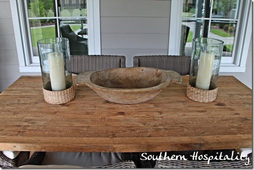 table on porch