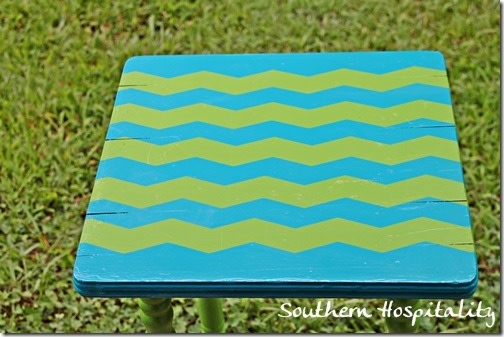 Chevron stripes with frogtape