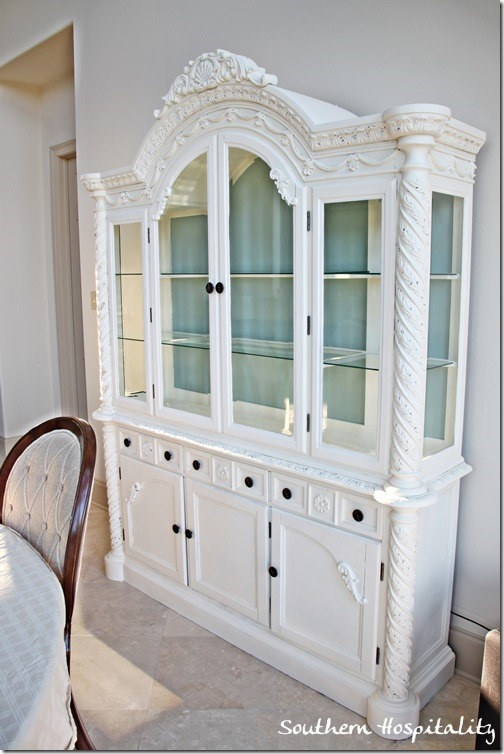 A Repainted China Cabinet Southern Hospitality