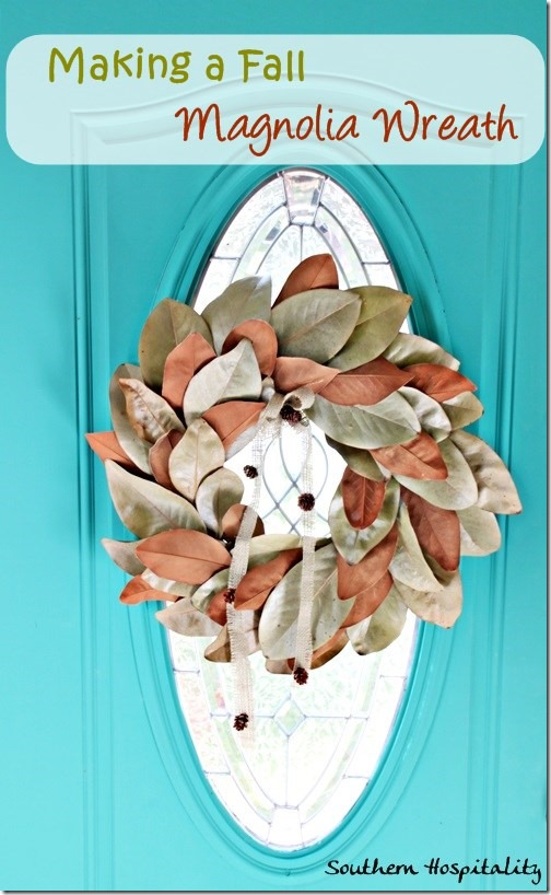 Fall magnolia wreath
