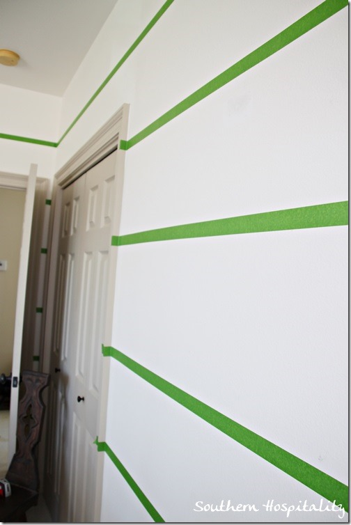frogtape on walls