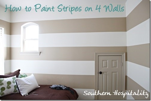 Painting stripes on walls nursery ideas southern for Bedroom stripe paint ideas