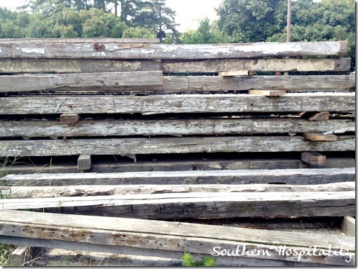 raw wood for mantel from Southern Accents