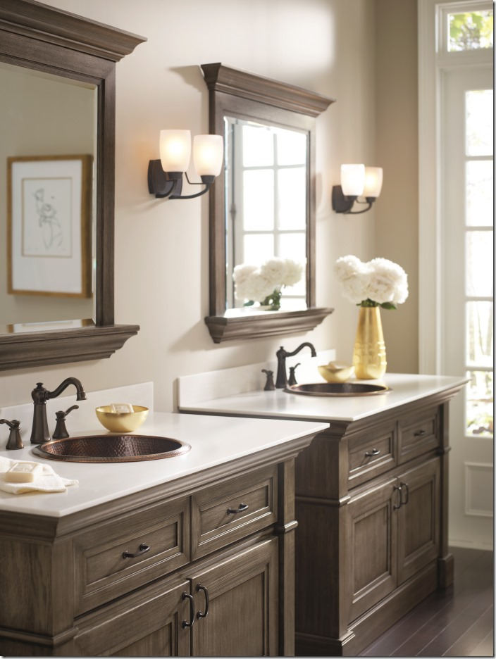 Makeover my vanity omega bathroom cabinetry pinterest for Master bath vanities pictures