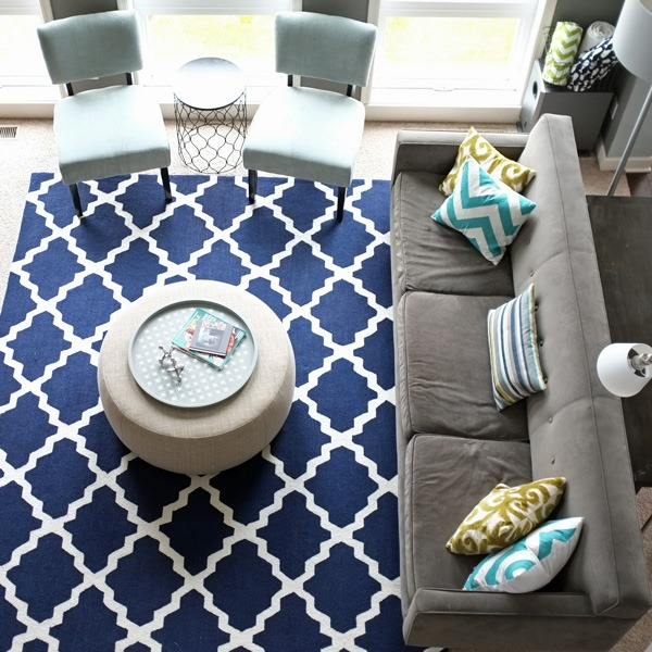 Feature friday teal and lime southern hospitality for Navy and teal rug