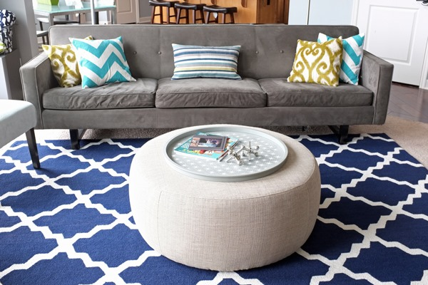 This Pretty Trellis Rug In Blue And White Takes Center Stage In The Living  Room. Part 80