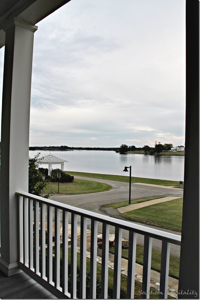 water view from the porch