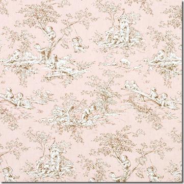 Kauffman pink toile