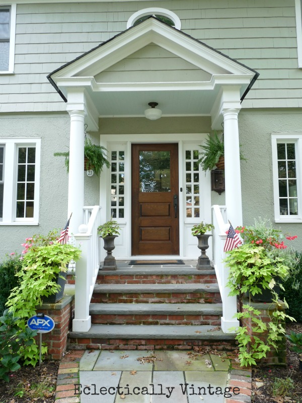 Building a front portico southern hospitality for Front door patio ideas