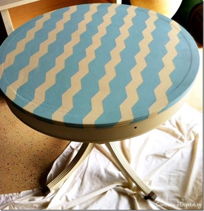 frogtape chevron painted