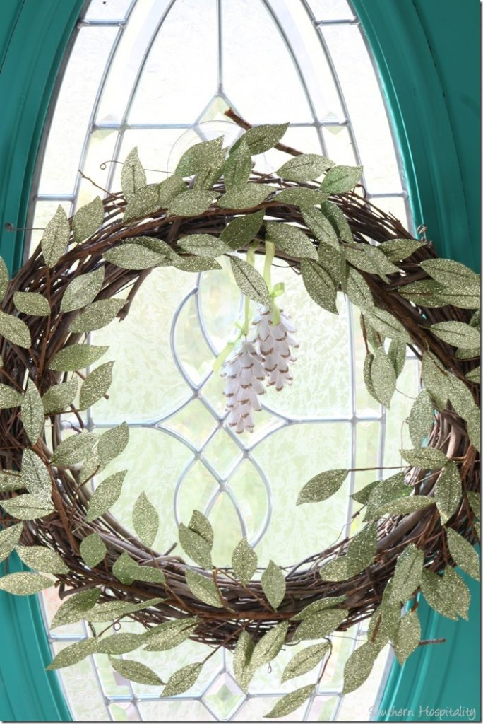green sparkle wreath
