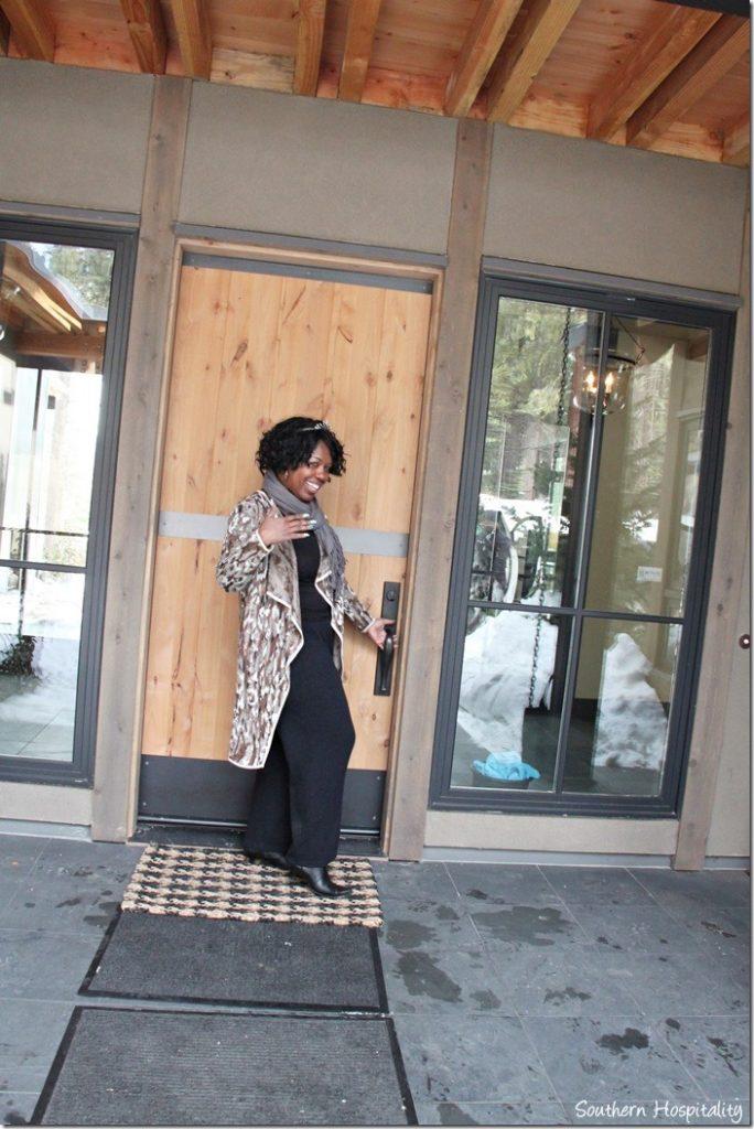 Jocelyn opening door