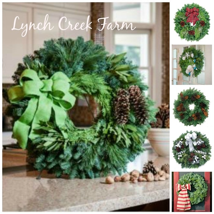 Decorating with real wreaths and garland giveaway for Bah humbug door decoration