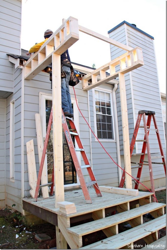 Building a front portico southern hospitality for Building an entryway addition