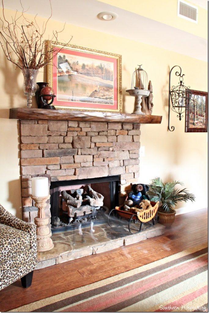 basement fireplace
