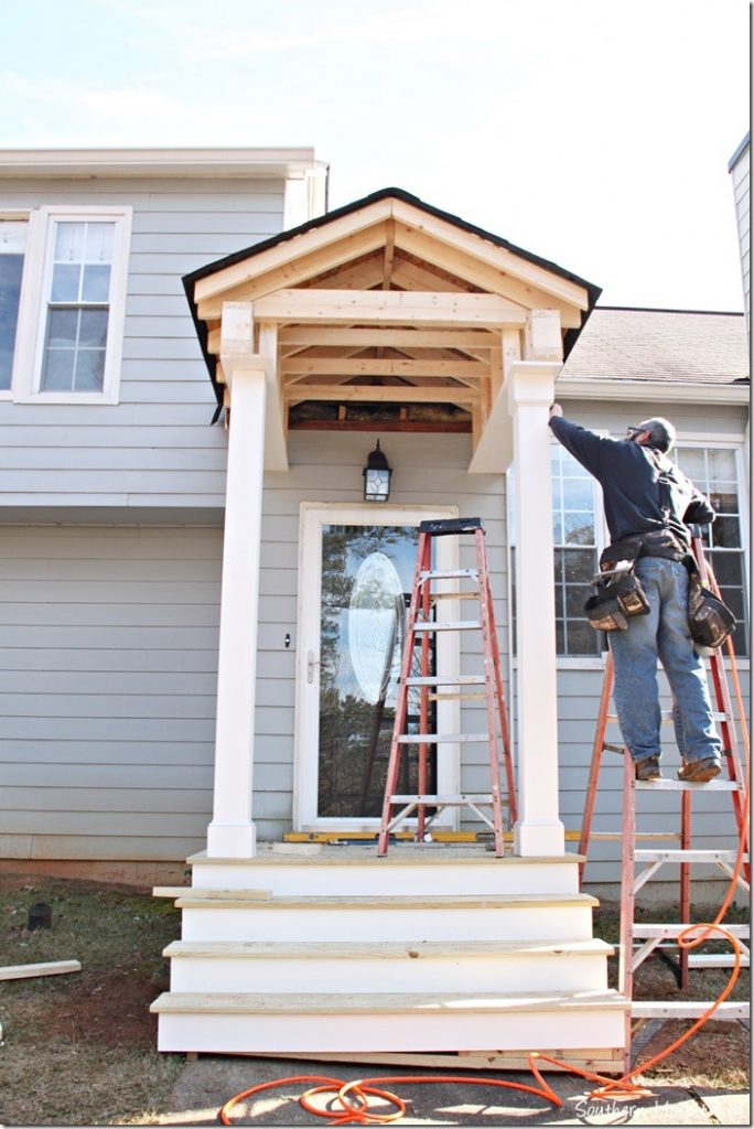 Building a front portico southern hospitality for How to start building a house